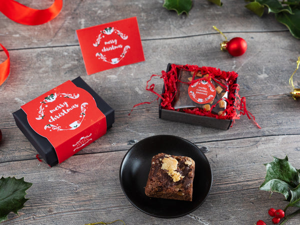 Christmas Salted Caramel Brownie & Tea Gift