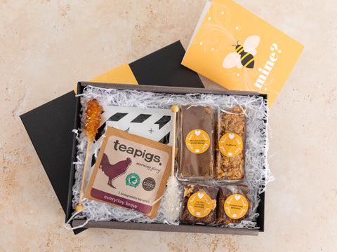 Our 'Bee Mine' Coffee and Treats Box combines our favourite bakes, Marshmallows,...
