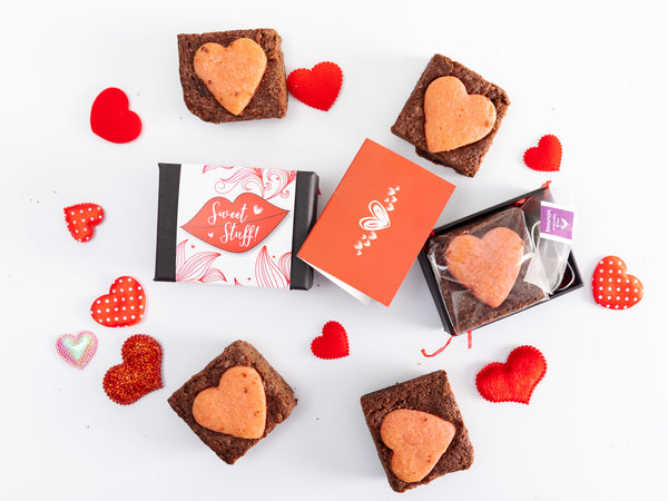 Sweet Stuff Mini Valentine's Brownie & Tea Gift