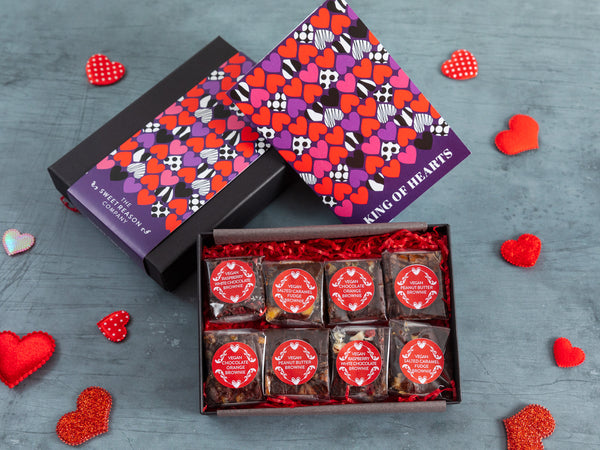 'King of Hearts' Vegan Luxury Brownie Gift