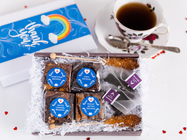 Thank You - Gluten Free Rainbow Afternoon Tea for Two Gift Box