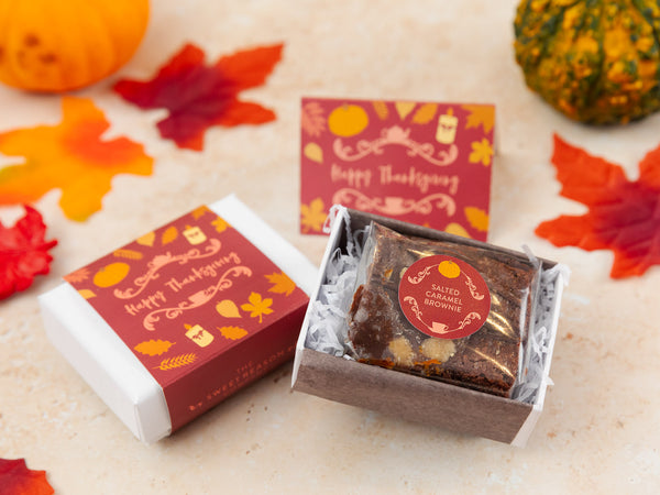 Thanksgiving Gluten Free Mini Brownie Gift Box