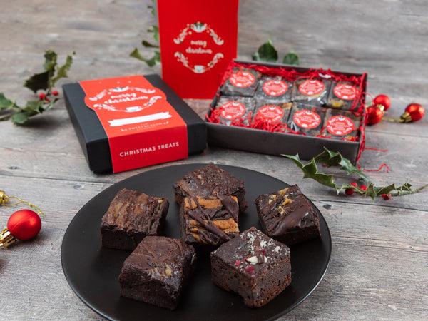 Christmas Vegan Luxury Brownie Gift Box