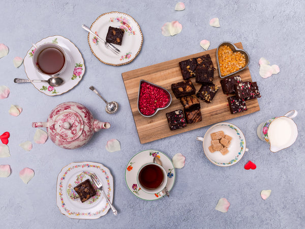 'With Love' Vegan Brownies Afternoon Tea for Two Gift Box