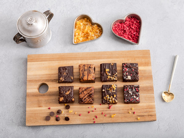 'King of Hearts' Vegan Brownies Afternoon Tea for Two Gift Box