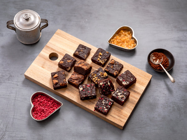 'Queen of Hearts' Vegan Luxury Brownie Gift