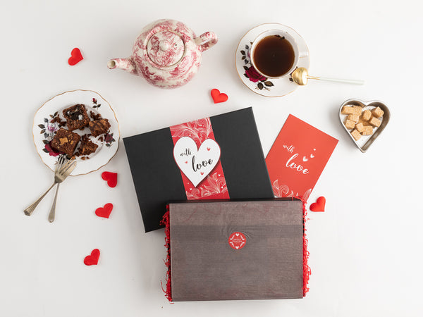 'With Love' Vegan Brownies Afternoon Tea for Four Gift Box