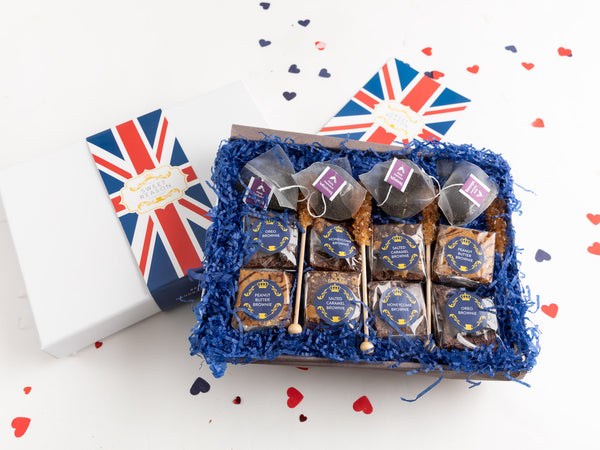 British Vegan Brownies Afternoon Tea for Four Gift Box