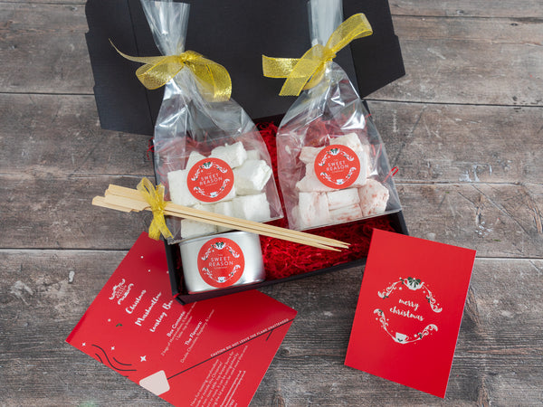 Christmas Vanilla and Raspberry Marshmallows Indulgent Toasting Box