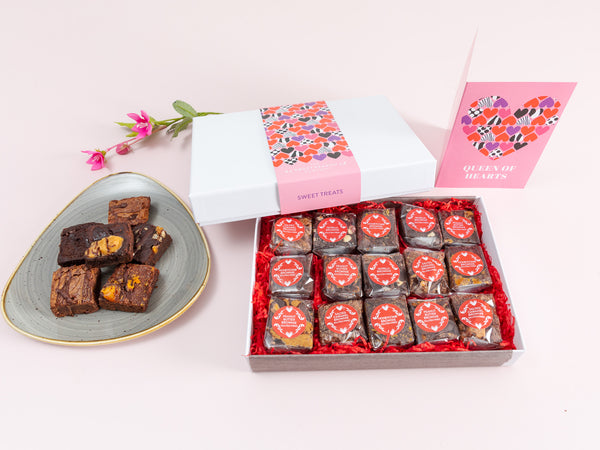 'Queen of Hearts' Gluten Free Indulgent Brownie Gift