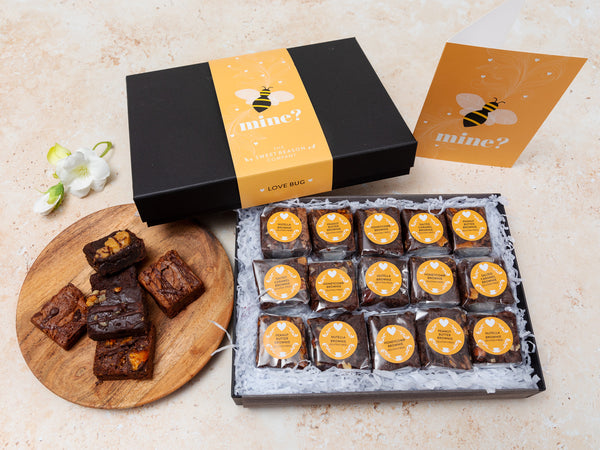 'Bee Mine' Gluten Free Indulgent Brownie Gift