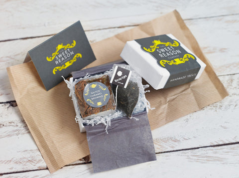 You can have our mini afternoon tea gift box delivered...