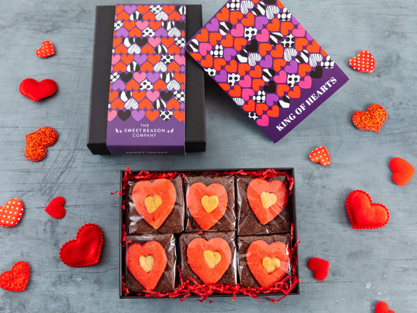 'King of Hearts' Luxury Heart Brownie Gift