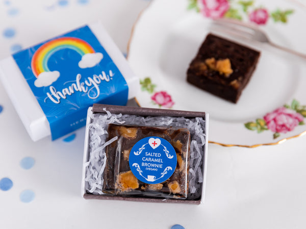 Thank You - Rainbow Mini Vegan Brownie & Tea Gift