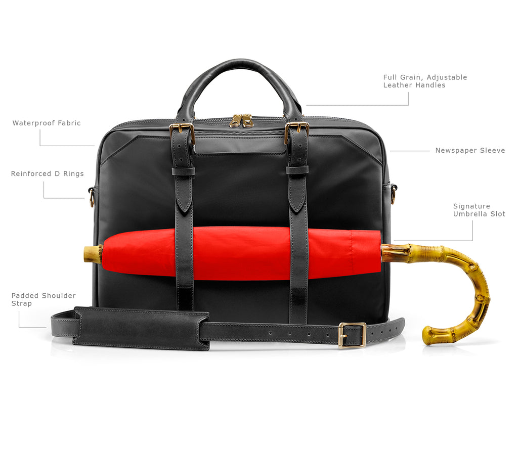 The Cary Briefcase with Umbrella Holder