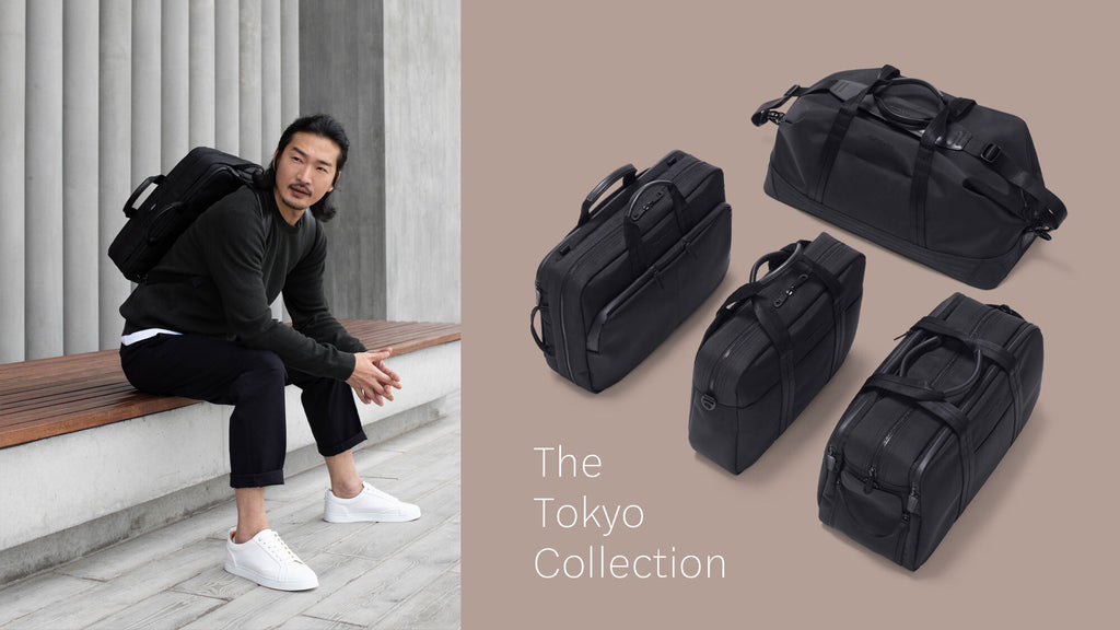 Tokyo Collection Banner Image with Group Photo of 4 Bags