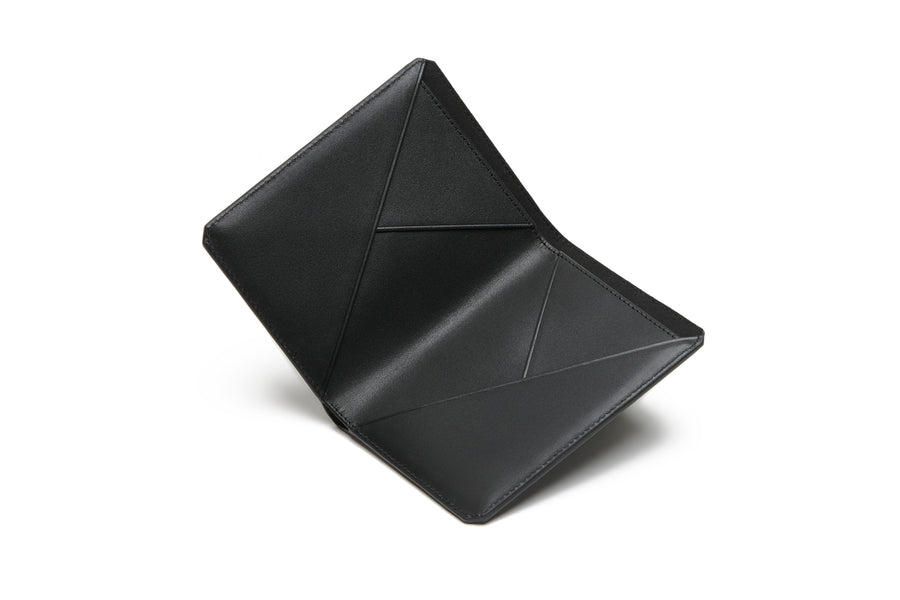 The Passport Wallet - Saffiano Black