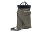 Stuart & Lau Clarke Totepack - Men's Olive and Black Tote Bag - Olive Fabric - Side View