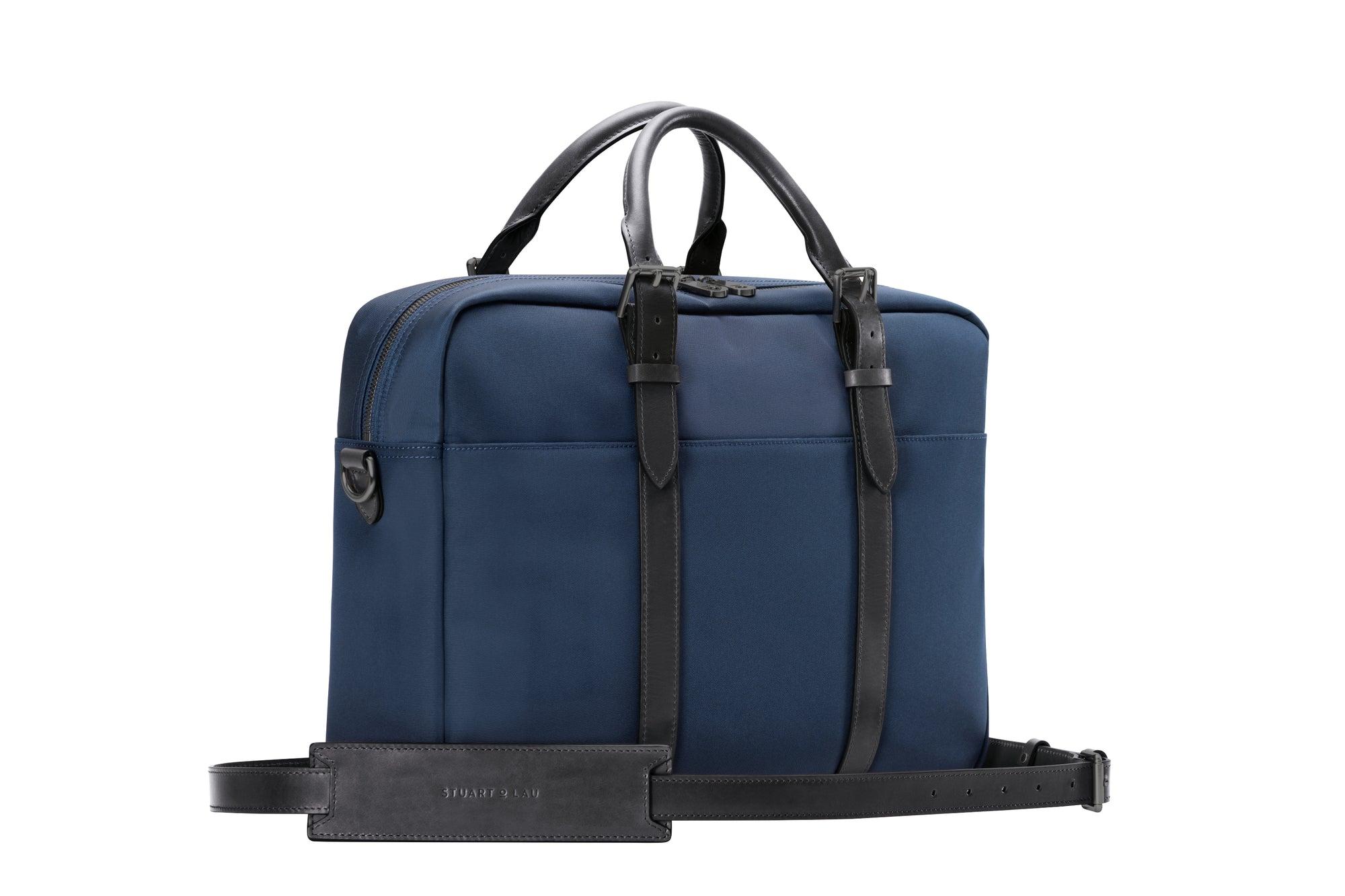 The Cary Briefcase - Single - Navy and Black