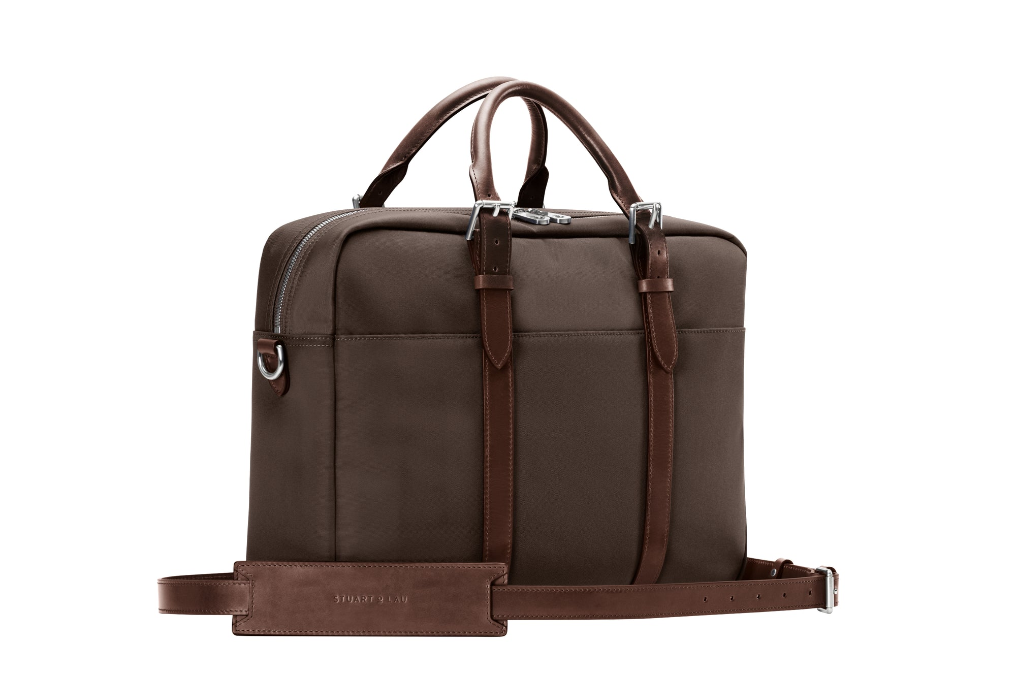 The Cary Briefcase - Single - Tobacco and Chocolate