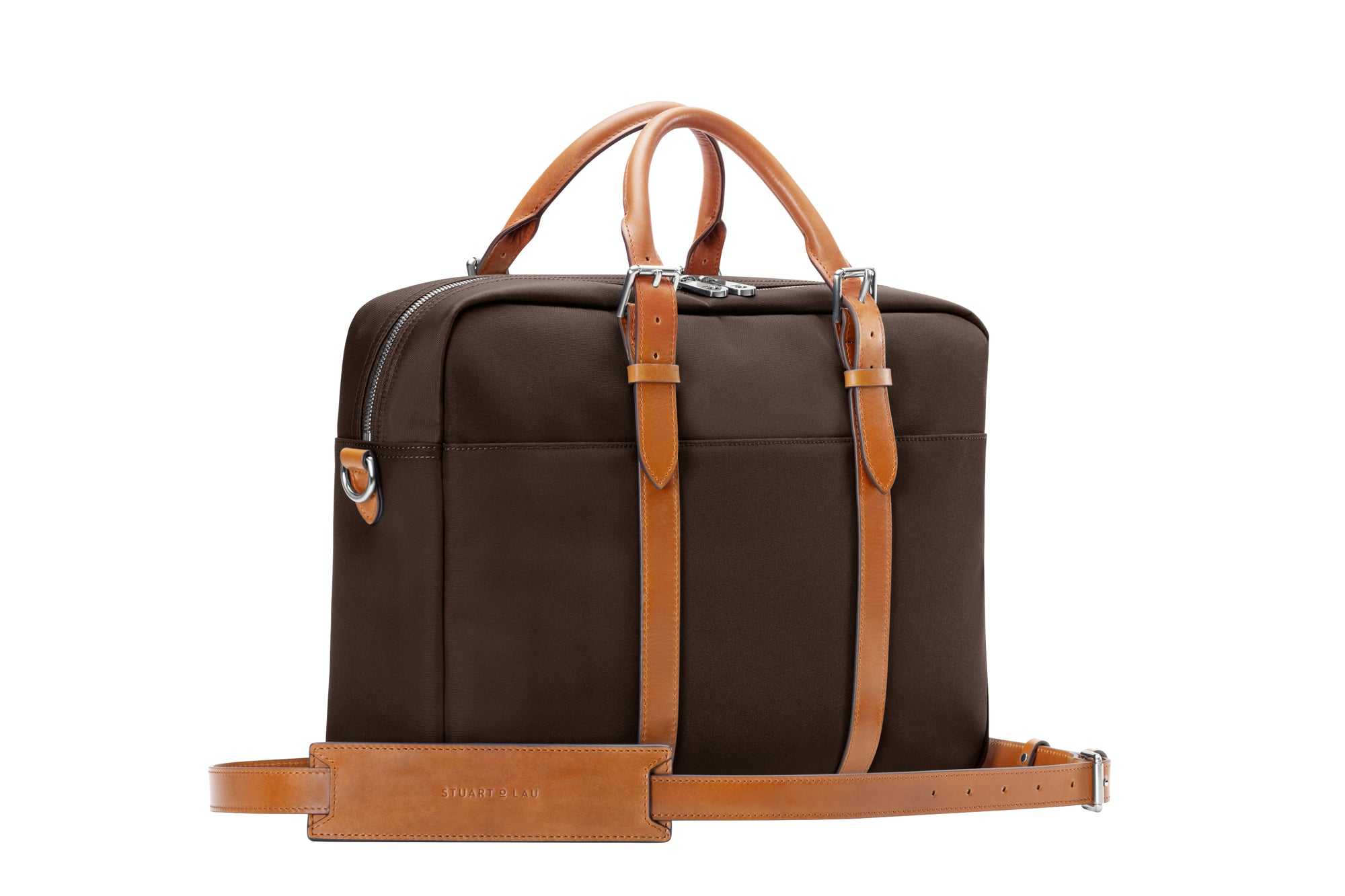 The Cary Briefcase - Single - Tobacco and Tan