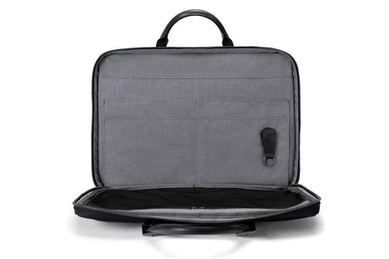 The Cary Briefcase - Slim - Black on Black