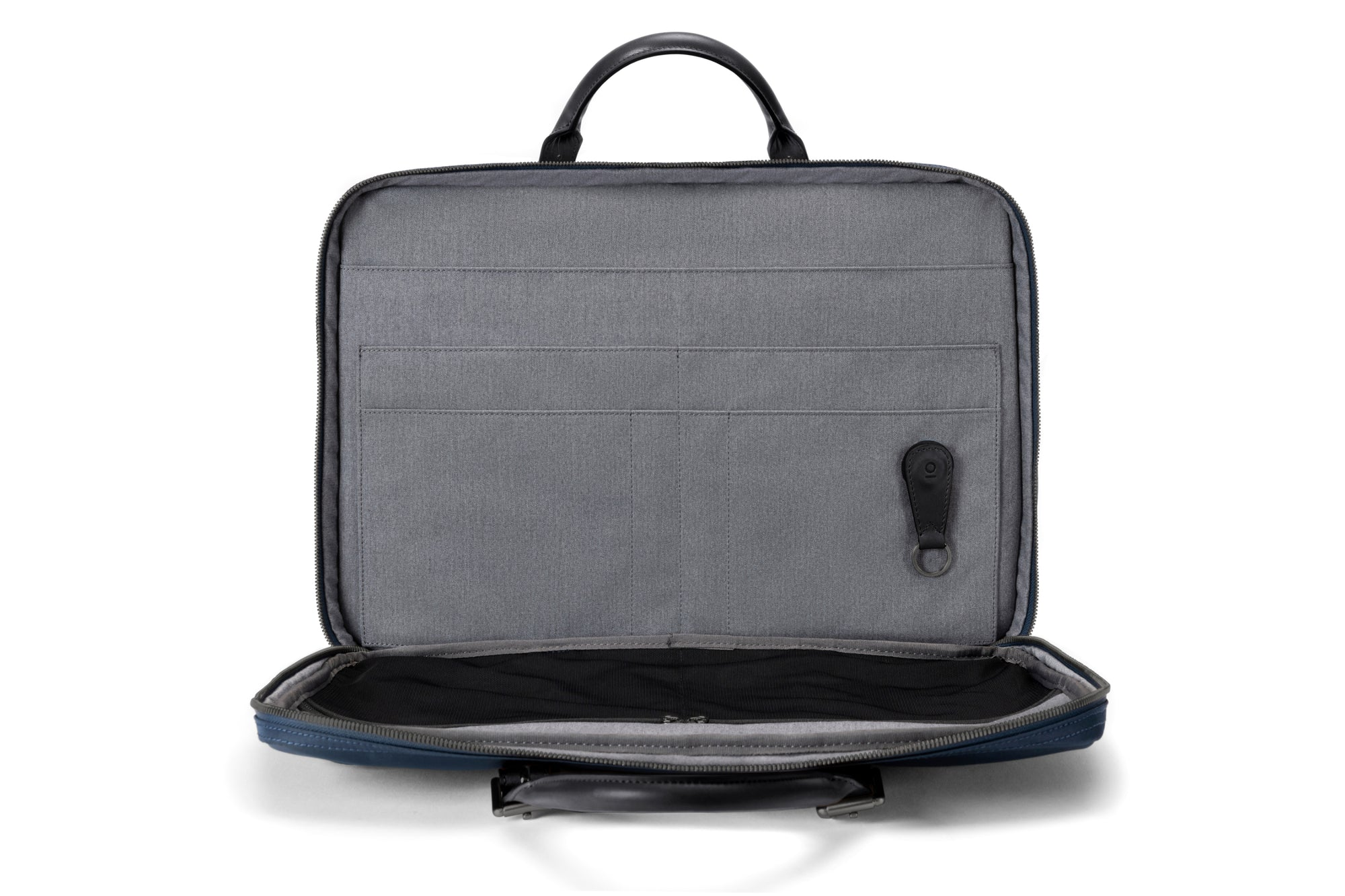 1301939377 The Cary Briefcase - Slim - Navy and Black