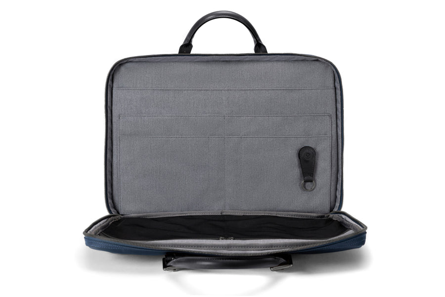 The Cary Briefcase - Slim - Navy and Black