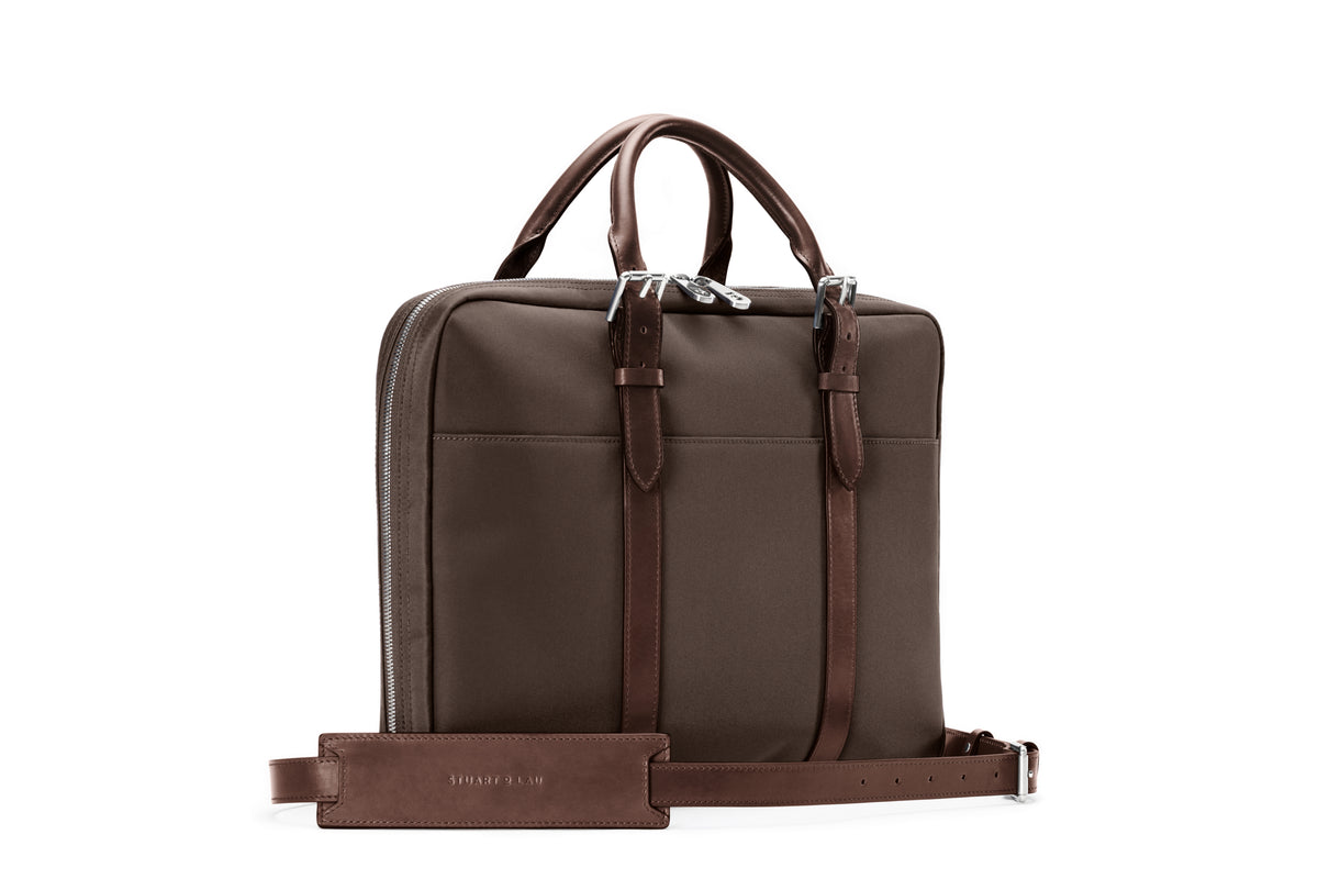 The Cary Briefcase - Slim - Tobacco and Chocolate