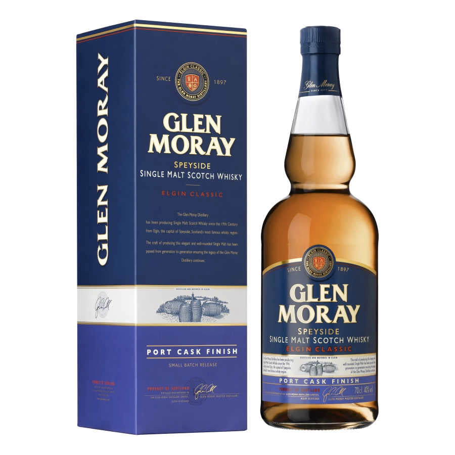 Glen Moray Port Cask Finish - Speyside Single Malt Whisky i gaveæske