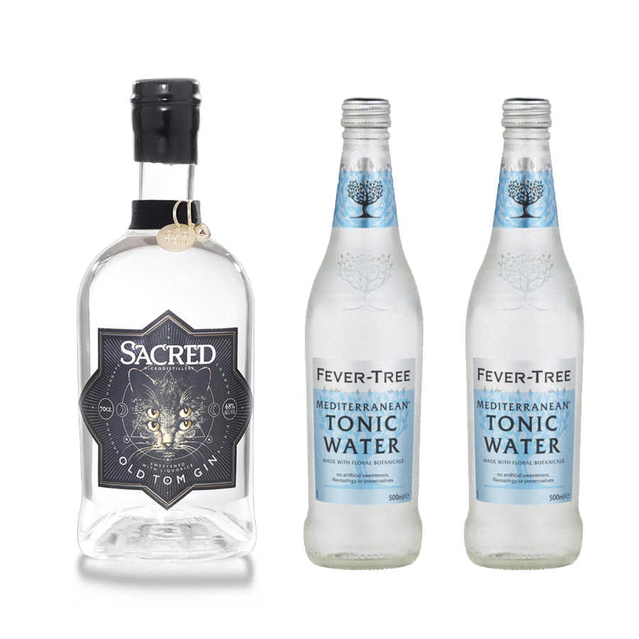 Old Tom pakken - 1 stk Sacred Old Tom Gin og 2 stk Fever-Tree Mediterranean Tonic
