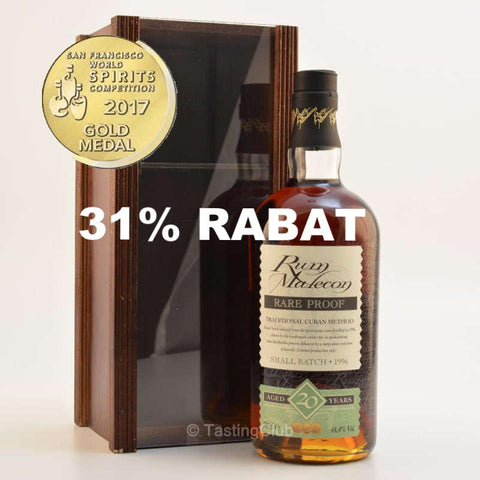 Malecon 20 Years Rum - Small Batch 1996 Rare Proof 48,4%