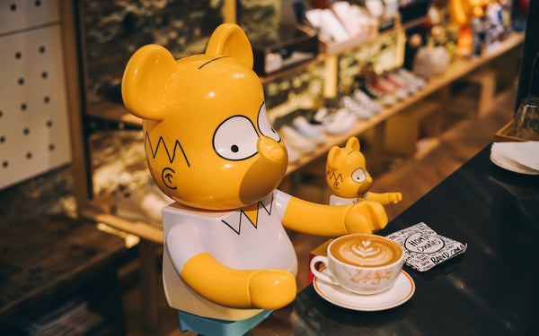 Medicom Toy x The Simpsons Homer BE@RBRICK comes in 1000% & 400% sizes.