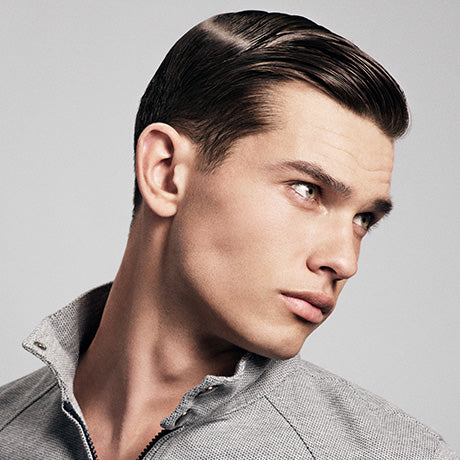 Thomas' classic style is given a new twist with Hard Water Pomade, delivering ultimate control and shine.