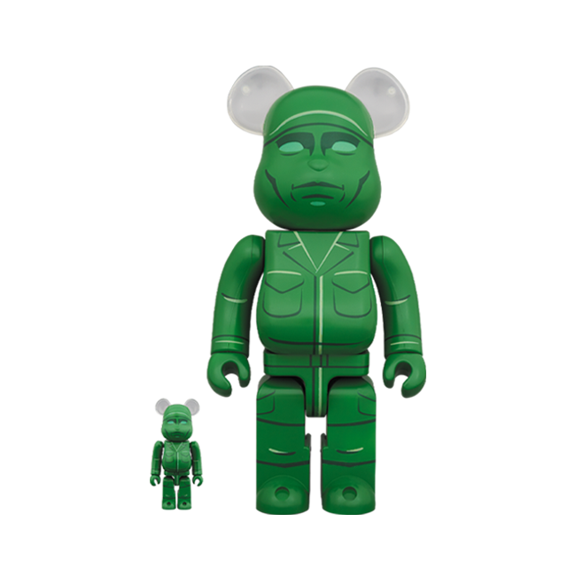Green Army Men BE@RBRICK 100% + 400% Set