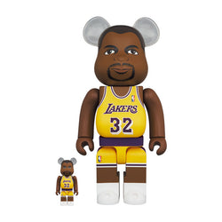 Magic Johnson (Los Angeles Lakers) 400% & 100% BE@RBRICK