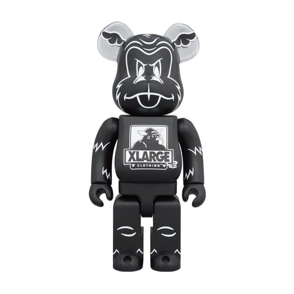 D*Face x XLARGE 100% & 400% BE@RBRICK - Black