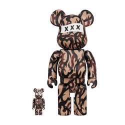 GOD SELECTION XXX x NUMBER (N)INE 100% & 400% BE@RBRICK