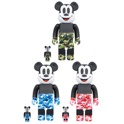 BAPE(R) MICKEY MOUSE 100% & 400% BE@RBRICK SET