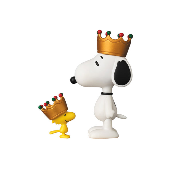 Peanuts Crown Snoopy and Woodstock UDF Mini-Figure Set