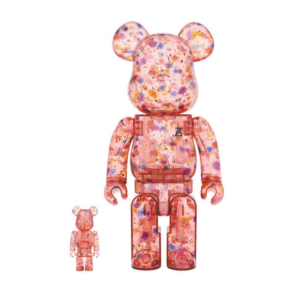 Anrealage 100% & 400%  BE@RBRICK Clear Red Version