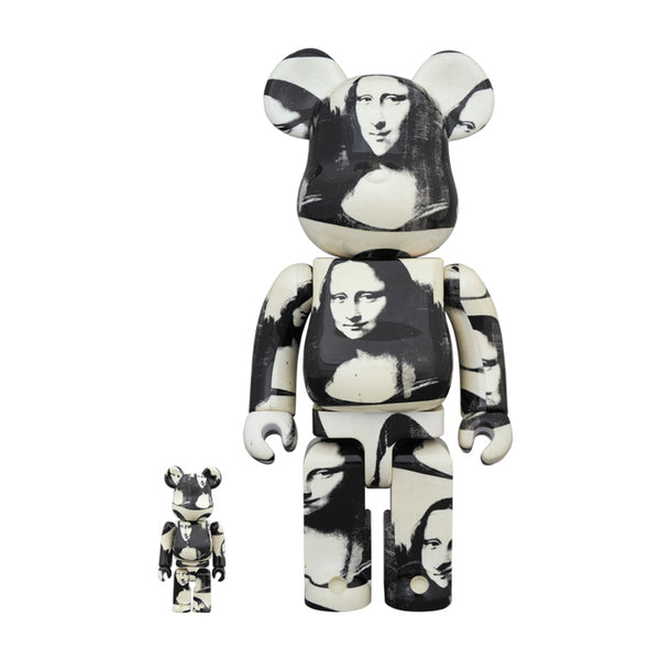 "Andy Warhol ""Double Mona Lisa"" 100% & 400% BE@RBRICK"