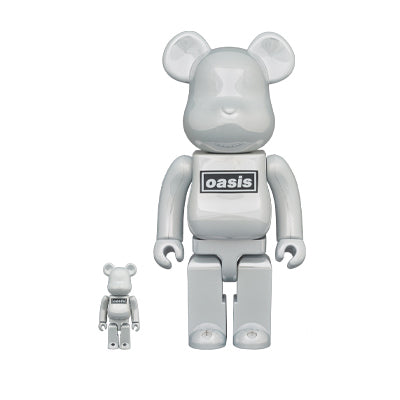 Oasis White Chrome Rubber Coating 400% + 100% BE@RBRICK