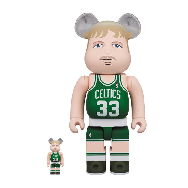 Larry Bird 400% & 100% BE@RBRICK