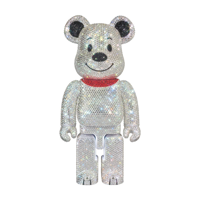 LIGHTS STYLE SWAROVSKI CRYSTAL DECORATE Snoopy 400% BE@RBRICK