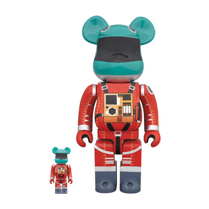Space Suit Green Helmet & Orange Suit ver. BE@RBRICK  100% & 400% Set