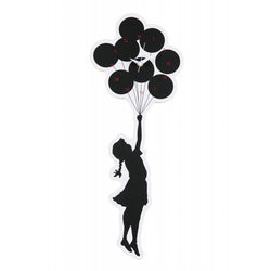 """FLYING BALLOONS GIRL"" 2nd made by KARIMOKU WALL CLOCK"