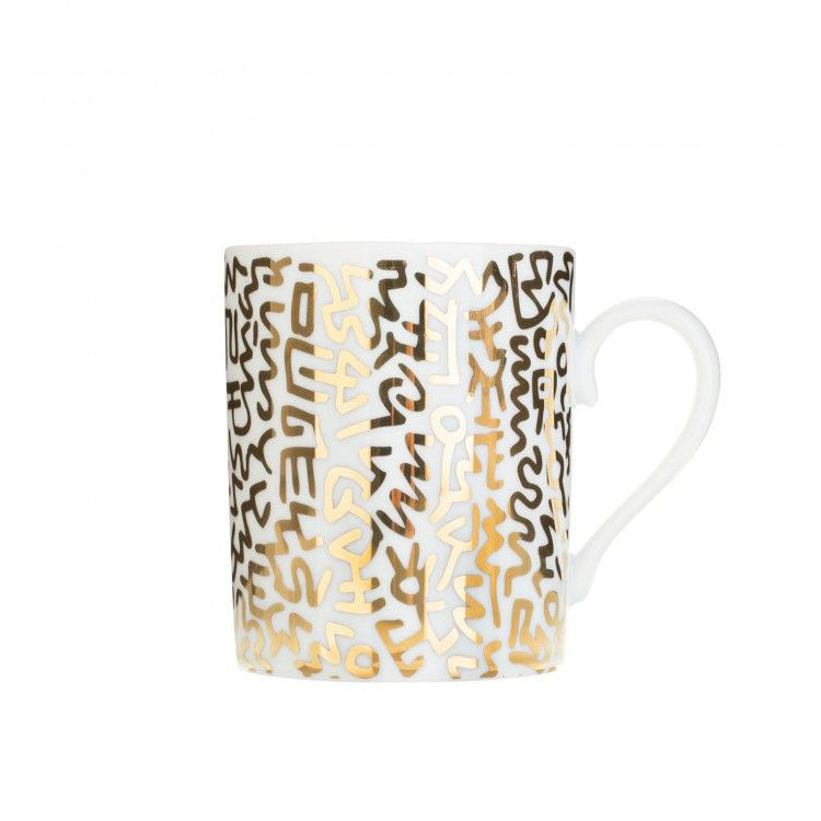 Keith Haring Limoges Porcelain Mug - Gold