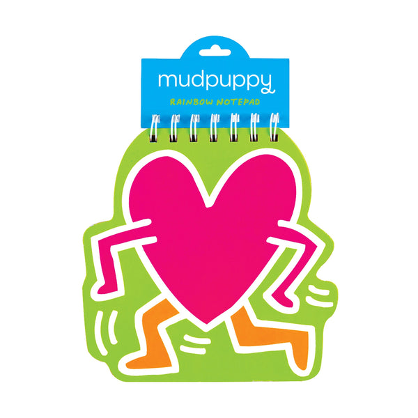 Keith Haring Heart Rainbow Notepad