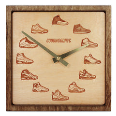 Square Retro J's Clock